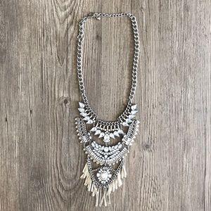 Rhinestone Bib Necklace.
